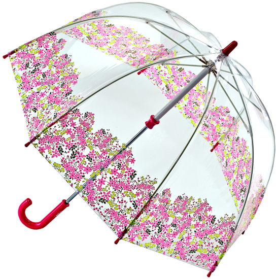 Fulton Funbrella Birdcage - Pretty Petals - Clear Childrens Umbrella