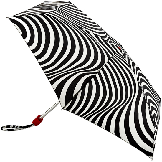Lulu Guinness Tiny Folding Umbrella - Optical Stripe