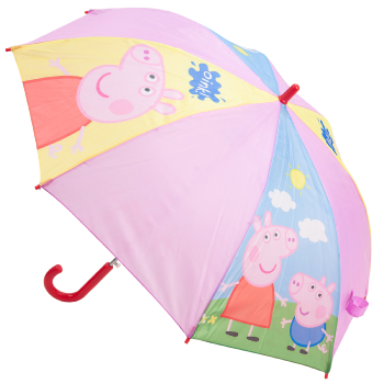 Peppa Pig Children's Umbrella - Blue, Yellow & Pink