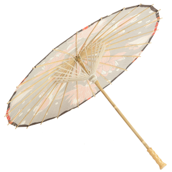 Premium Chinese Paper and Bamboo Parasol - Koi & Lotus