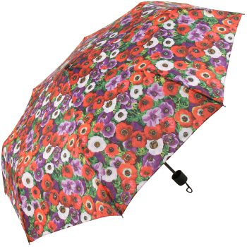 Signare Straight Handle Manual Folding Umbrella - Anemone
