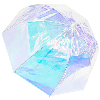 Susino Clear Dome Umbrella - Iridescent Spectrum