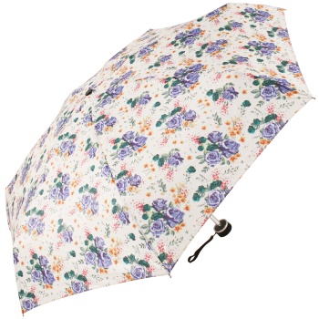 Mini Floral Folding Umbrella with Case by Cachemir - Green
