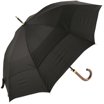 Stormking Classic 1m Black Vented Walking Length Umbrella