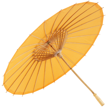 Chinese Paper and Bamboo Parasol - Orange