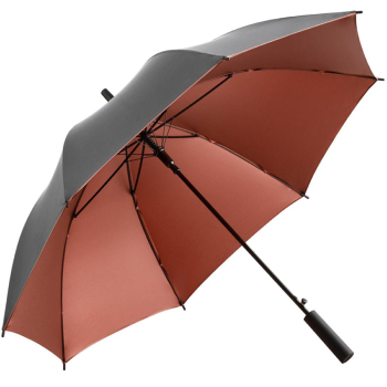 UV Protective SPF50+ Two-Tone Automatic Opening Walking Length Umbrella - Grey & Copper