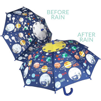 Colour Changing Childrens Umbrella - Universe