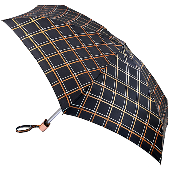 Fulton Tiny Folding Umbrella - Golden Check