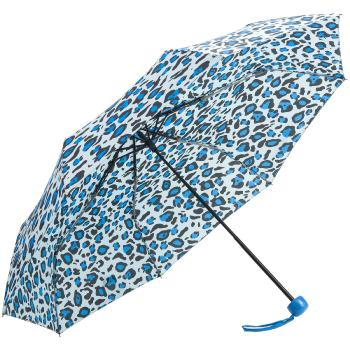 Funky Leopard Folding Umbrella - Blue