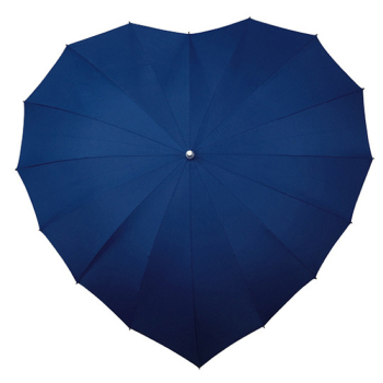 Heart Umbrella - Navy