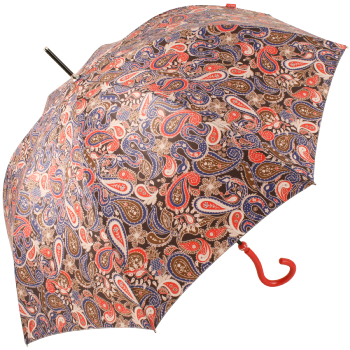 Paisley Walking Length Umbrella by Joy Heart - Red