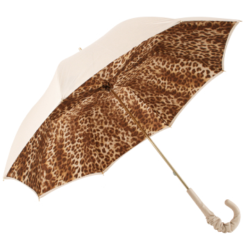 Glamour Ivory Luxury Double Canopy Umbrella by Pasotti