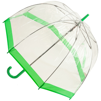 Soake Clear Deep Dome Umbrella - Green Trim