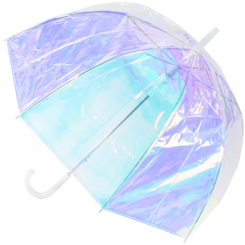 Susino Clear Dome Umbrella - Iridescent