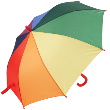 Susino X-Brella Children's Walking Length Rainbow Umbrella