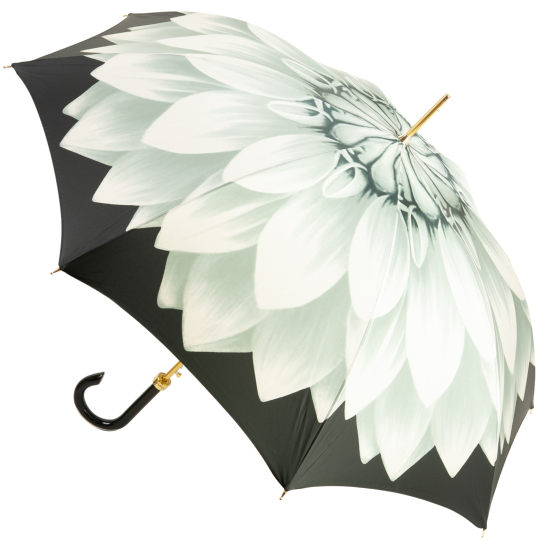 Lotus Silver Luxury Ladies Automatic Umbrella by Pasotti