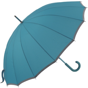 Sedici Fibreglass 16 Rib Umbrella - Water Blue