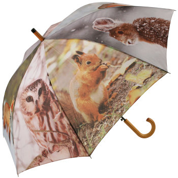 Winter Animals Large Canopy Umbrella