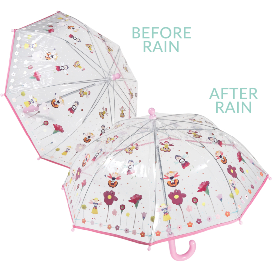 Colour Changing Childrens PVC Umbrella - Petal Fairy