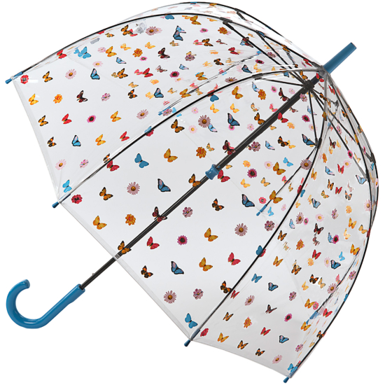 Fulton Birdcage Clear Dome Umbrella - English Garden