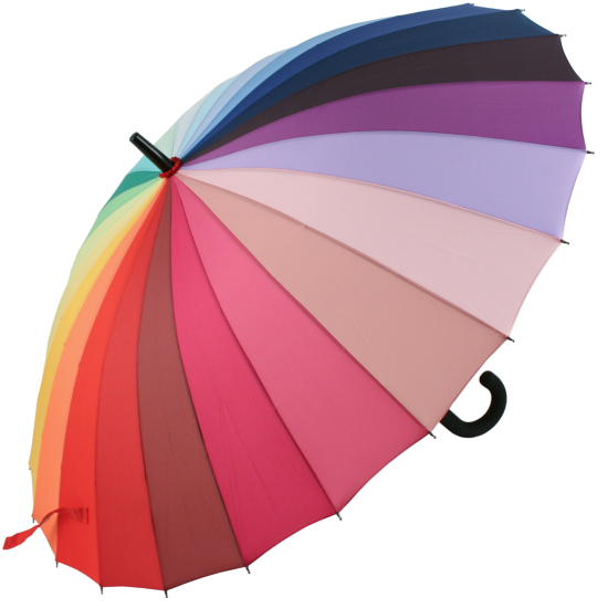 24 Rib Rainbow Classic Stick Umbrella
