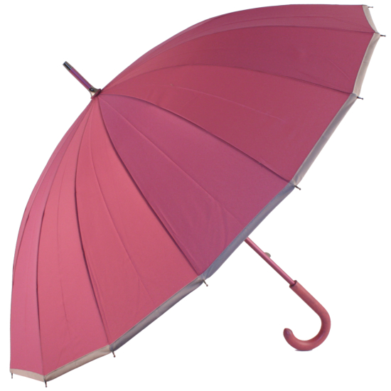 Sedici Fibreglass 16 Rib Umbrella - Rose