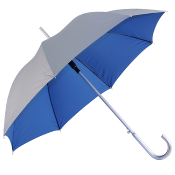 Silver 2 Tone Umbrella - Silver/Blue