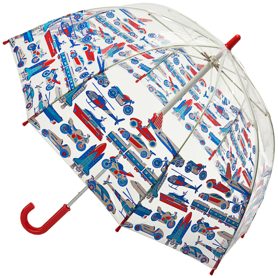 Cath Kidston Clear Dome Funbrella for Children - Things That Go Faster