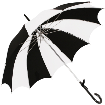 Ex Hire - Harlequin Scalloped Pagoda Umbrella by Chrysalin
