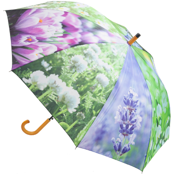 Flowers Large Walking Length Umbrella by Fallen Fruits