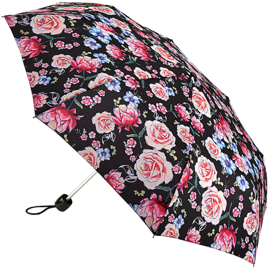 Fulton Minilite Folding Umbrella - Sketched Bouquet