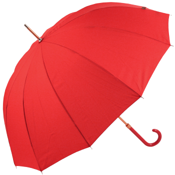 12 Rib Walker Umbrella with Bronzed Frame by M&P - Scarlet