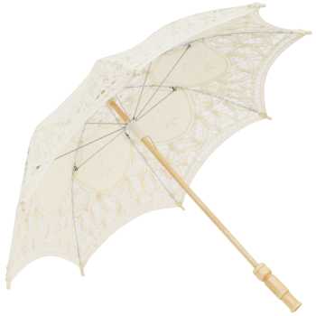 Kitty Lace Parasol for Children in Cream
