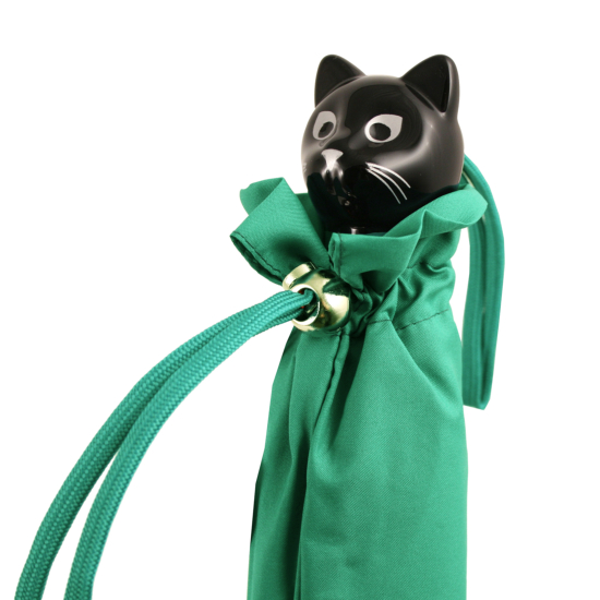 Cat Folding Umbrella by Rainbow of Milan - Mint Green