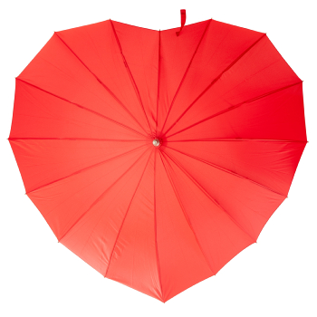 Soake Heart Umbrella - Red