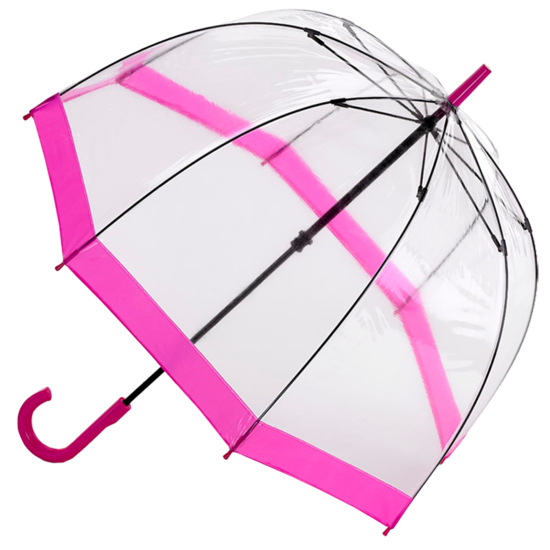 Fulton Birdcage Umbrella - Pink Trim