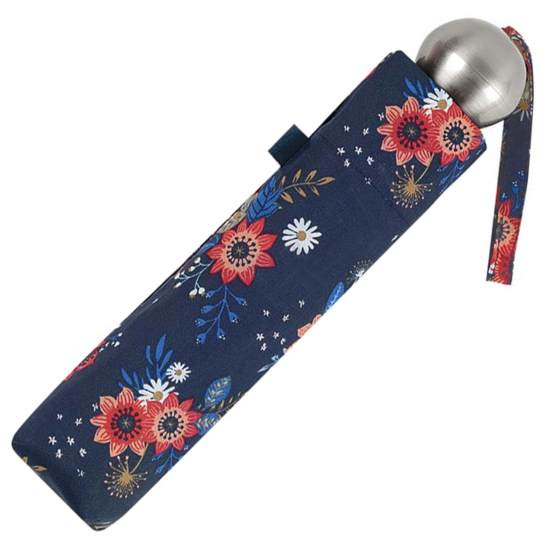 UV Protection SPF50+ Floral Folding Umbrella - Navy