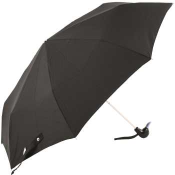 Duck Folding Umbrella by Rainbow of Milan - Black with Lilac Beak