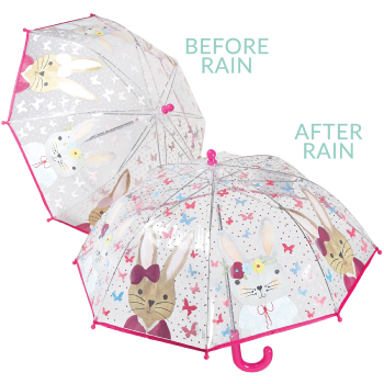 Colour Changing Childrens PVC Umbrella - Rabbit