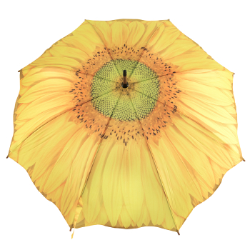 Galleria Art Print Walking Length Umbrella - Sunflower Bloom