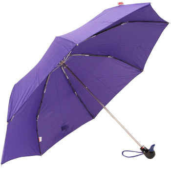 Duck Folding Umbrella by Rainbow of Milan - Purple
