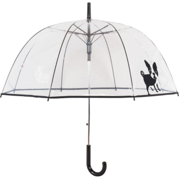 Clear See-through Dome Umbrella - Boston Terrier Pup