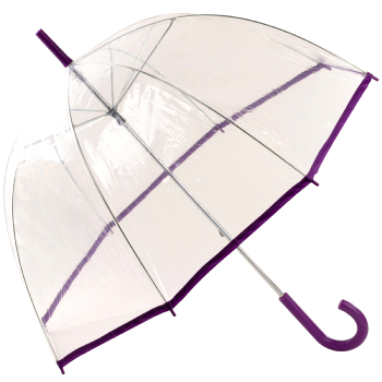 See-Through Slimtrim Clear Dome Umbrella - Purple