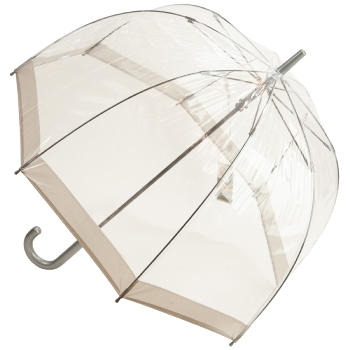 Soake Clear Deep Dome Umbrella - Silver Trim