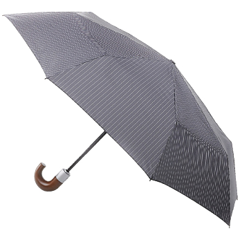 Fulton Chelsea Automatic Folding Umbrella - City Stripe Grey