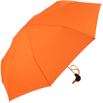 Duck Folding Umbrella by Rainbow of Milan - Bright Orange