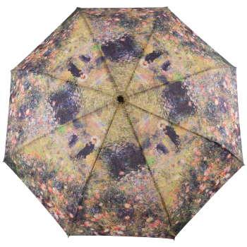 Galleria Art Print Auto Open & Close Folding Umbrella - Woman with a Parasol by Renoir