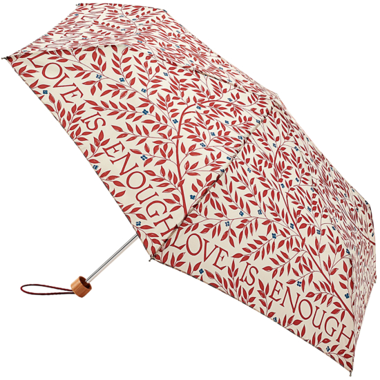 Morris & Co Superslim - Lightweight Folding Umbrella - Love is Enough