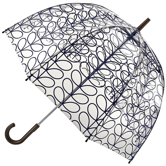 Orla Kiely Birdcage - Linear Leaf Ink - PVC Dome Umbrella