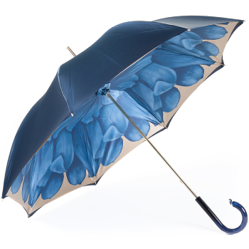 Dahlia Blue Double Canopy - Luxury Ladies Umbrella by Pasotti
